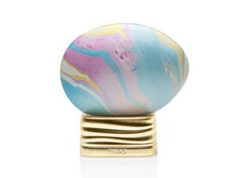 Frasco en forma de huevo pintado de Agua de Perfume The House of Oud Neverending